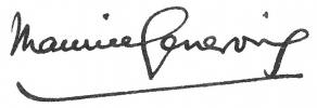 Signature de Maurice Genevoix