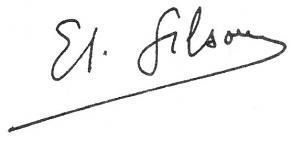 Signature d'Étienne Gilson
