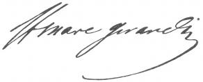 Signature de Marc Girardin, dit Saint-Marc Girardin