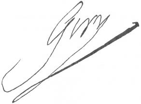 Signature de Louis Giry