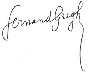 Signature de Fernand Gregh