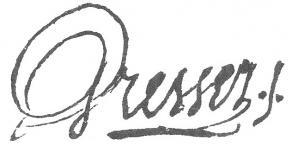 Signature de Jean-Baptiste-Louis Gresset