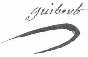 Signature de Jacques-Antoine-Hippolyte de Guibert