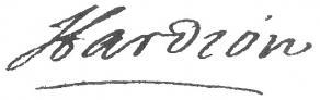 Signature de Jacques Hardion