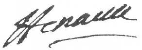 Signature de Charles-Jean-François Hénault