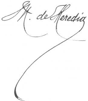 Signature de José-Maria de Heredia