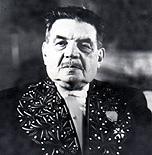 Édouard Herriot en habit d'académicien