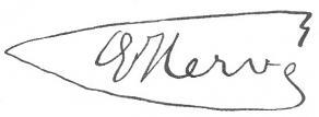 Signature d'Édouard Hervé