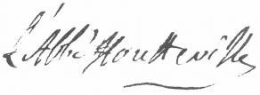 Signature de Claude-François-Alexandre Houtteville, abbé