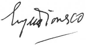 Signature de Eugène Ionesco