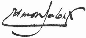 Signature d'Edmond Jaloux