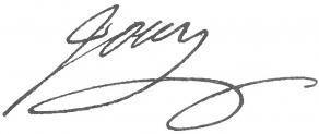 Signature de Victor-Joseph-Étienne de Jouy