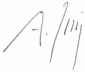 Signature du maréchal Juin