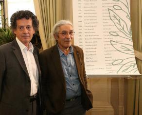 Les deux lauréats du Grand Prix du Roman 2015