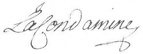 Signature de Charles-Marie de La Condamine