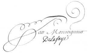 Signature de Jean-François Leriget de La Faye