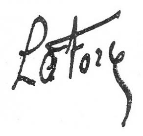 Signature du duc de La Force