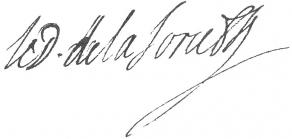 Signature d'Henri-Jacques de La Force