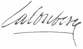 Signature de Simon de La Loubère