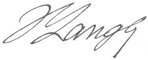 Signature d'Hippolyte Langlois