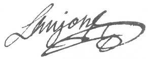 Signature de Pierre Laujon