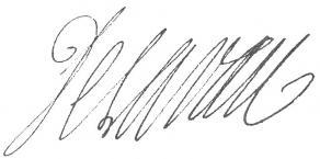 Signature de Louis Irland de Lavau