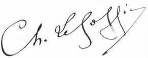 Signature de Charles Le Goffic