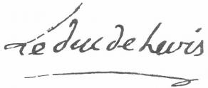 Signature de Pierre-Marc-Gaston de Lévis, duc
