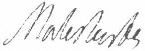 Signature de Guillaume-Chrétien de Lamoignon de Malesherbes