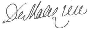 Signature de Nicolas de Malézieu