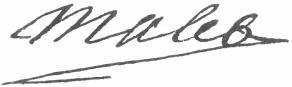 Signature de Jean-Roland Mallet