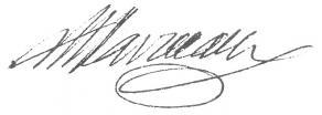 Signature de Pierre Carlet de Chamblain de Marivaux
