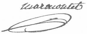 Signature de Jean-François Marmontel