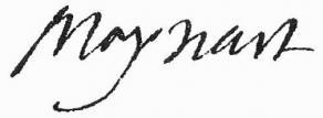 Signature de François Maynard
