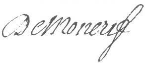 Signature de François-Augustin Paradis de Moncrif