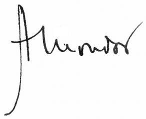 Signature de Henri Mondor