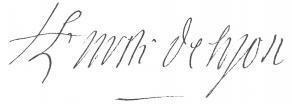 Signature d'Antoine de Malvin de Montazet, archevêque de Lyon
