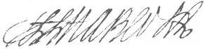 Signature de Henri-Louis Habert de Montmort