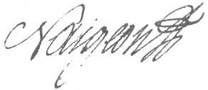 Signature de Jacques-André Naigeon