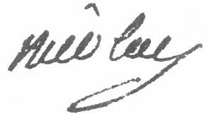 Signature d'Aimar-Charles-Marie de Nicolaï
