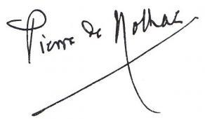 Signature de Pierre de Nolhac