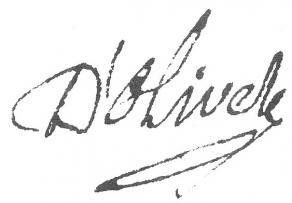 Signature de Pierre-Joseph Thoulier d'Olivet