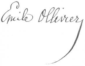 Signature d'Émile Ollivier