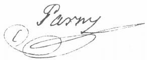 Signature d'Évariste de Forges de Parny