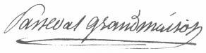 Signature de François-Auguste Parseval-Grandmaison