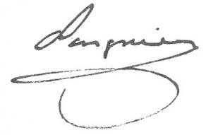 Signature d'Étienne-Denis Pasquier