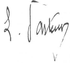 Signature de Louis Pasteur