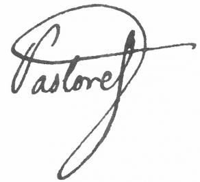 Signature de Claude-Emmanuel de Pastoret