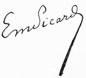 Signature d'Émile Picard