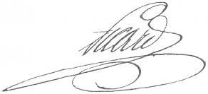 Signature de Louis-Benoît Picard